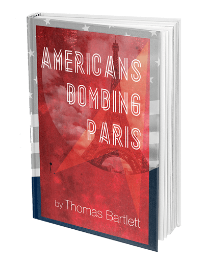 Americans Bombing Paris Book Isolated on White