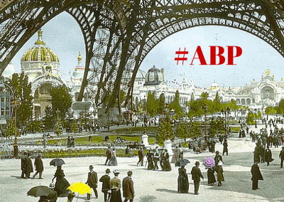 #ABP on a old monochrome of the Eiffel Tower