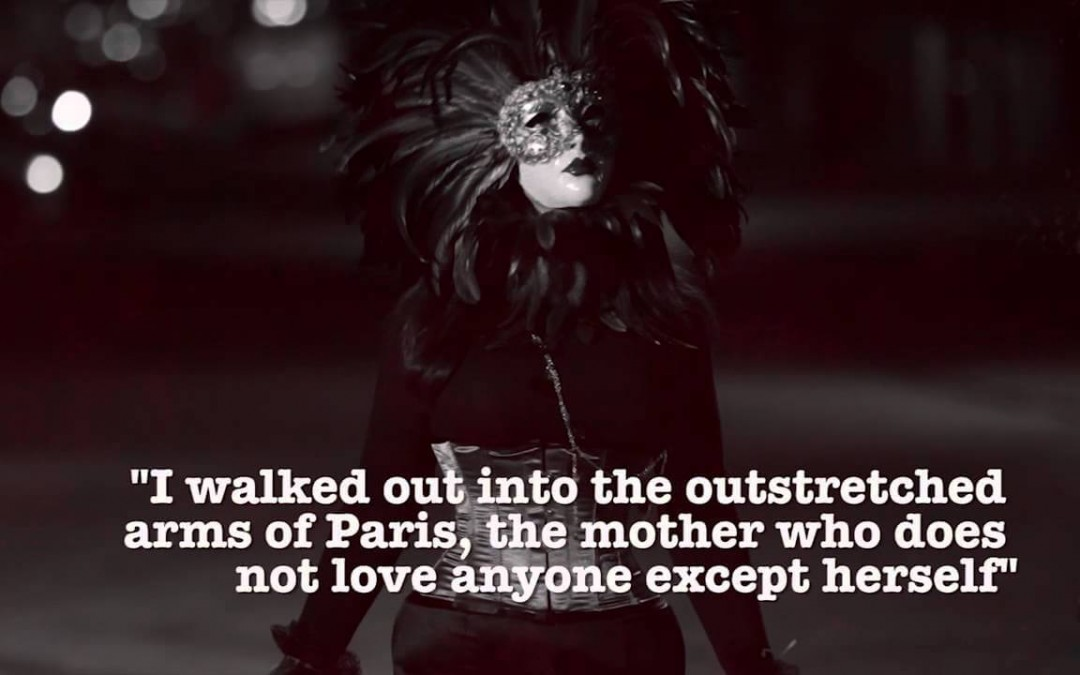 Americans Bombing Paris Screenshot of Paris and a quote over it