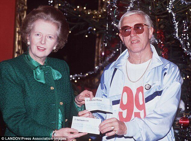 Margaret Thatcher Prime Minister of England with Jimmy Saville