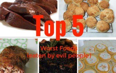 Top 5 Worst Foods